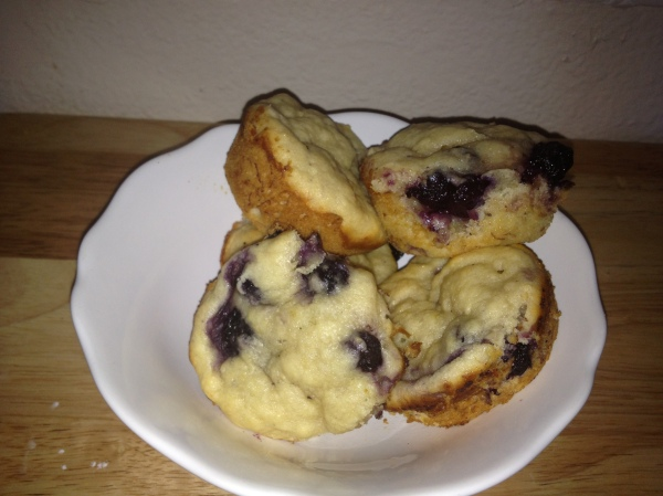 Zesty Banana Blueberry Muffins