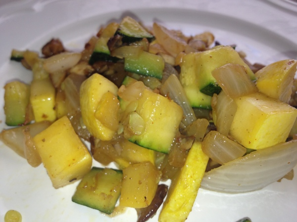 Seasoned  Squash and Mushrooms