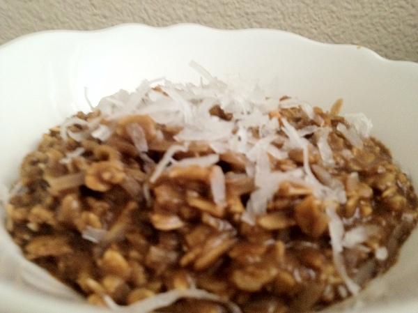 Mocha Coconut Oatmeal